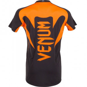 Футболка Venum Hurricane X Fit T-shirt (V-hurric-O) Black/Neo Orange р. M